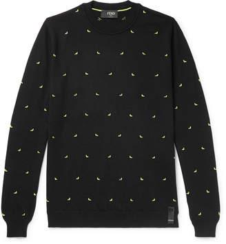 Fendi Slim-Fit Intarsia Wool-Blend Sweater