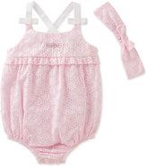 Calvin Klein 2-Pc. Eyelet Romper & Headband Set, Baby Girls (0-24 months)