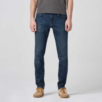 DSTLD Mens Skinny-Slim Jeans in Blue Worn