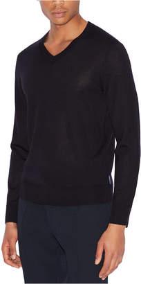 Armani Exchange Men V-Neck Wool Sweater