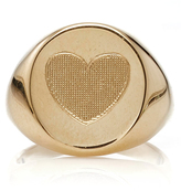 Emily and Ashley Yellow Gold Heart Signet Pinky Ring