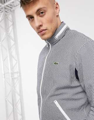 Lacoste check bomber jacket