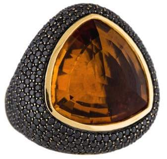 Di Modolo Diamond & Citrine Triadra Cocktail Ring