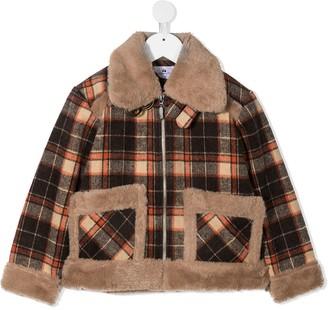Raspberry Plum Yago plaid-check jacket
