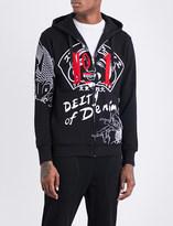Evisu No1 cotton-jersey hoody