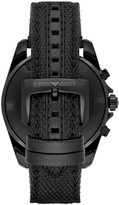 Emporio Armani Sigma Leather-Backed Cordura Tactical Nylon Strap Chronograph Watch