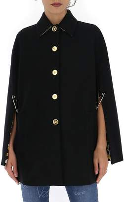 Versace Cape Sleeves Flared Coat