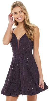 Speechless Juniors' Party Slip Lace Dress