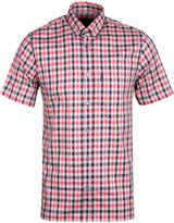 Aquascutum Red Checked Emsworth Short Sleeve Shirt