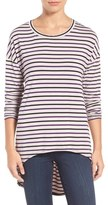 KUT from the Kloth Mindy Stripe High/Low Tee