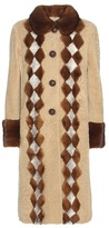 Prada Fur-trimmed Shearling Coat