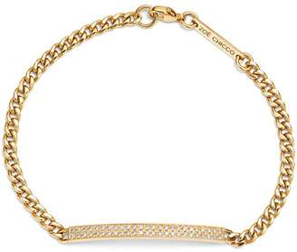 Chicco Zoë 14K Yellow Gold Small Curb Diamond ID Bracelet