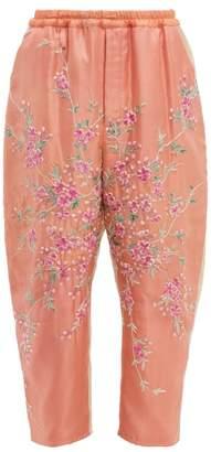 By Walid Jay 19th Century Kimono Silk Trousers - Womens - Pink Multi