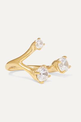Panconesi Constellation Trinity Gold-plated Crystal Ring - 54
