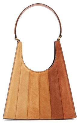 STAUD Rey Gradient Quilted-suede Handbag - Tan Multi