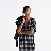 Madewell Zip-Front Dress in Buffalo Sketch
