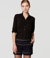 LOFT Petite Shimmer Stripe Shorts