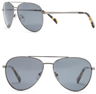 Ted Baker 60mm Metal Frame Aviator Sunglasses