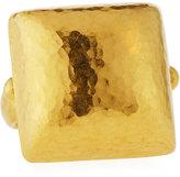 Gurhan Amulet 24k Large Domed Square Ring, Size 6.5