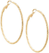 Lydell NYC Textured Shiny Hoop Earrings, Golden