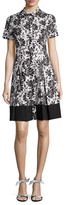 Shoshanna Cotton Printed Flared Dress