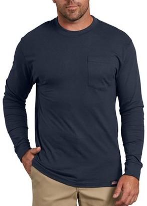 Dickies Genuine Big Men's Heavy Weight Long Sleeve Pocket T-Shirt, 2-Pack