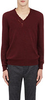 Lanvin MEN'S DONEGAL-EFFECT DESTROYED SWEATER