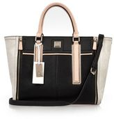 River Island Womens Black panel winged tote bag