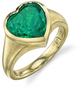 Irene Neuwirth Colombian Emerald Heart Ring