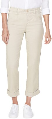 NYDJ Straight Leg Ankle Cotton Blend Chino Pants
