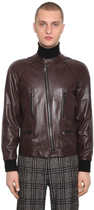 Dolce & Gabbana Plonge Leather Blouson Jacket