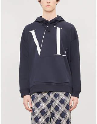 Valentino Logo-print cotton-blend hoody