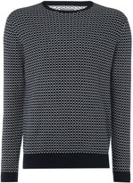 Peter Werth Elder Matchstick Check Crew Neck