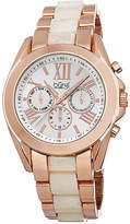 Burgi Womens Rose Gold-Tone Bracelet Watch