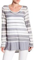 Allen Allen Striped Hi-Lo Shirt
