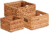 Honey-Can-Do 3-Piece Nesting Banana Leaf Basket Set