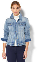 New York & Co. Soho Jeans - Knit Denim Jacket - Light Indigo Wash