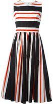 Dolce & Gabbana striped open back dress