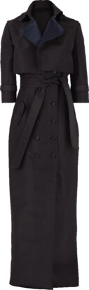 Atelier Herve Pierre Tuxedo Gown With Cropped Jacket
