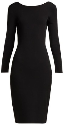 The Row Darta Scoop-back Midi Dress - Womens - Black