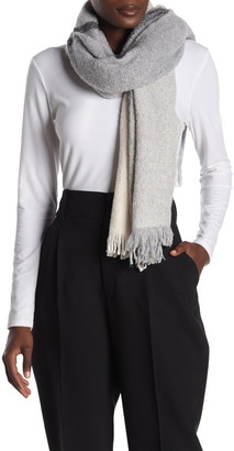 Amicale Wool Blend Colorblock Scarf