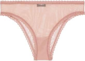 Cosabella Temptations Lace-trimmed Mesh Briefs