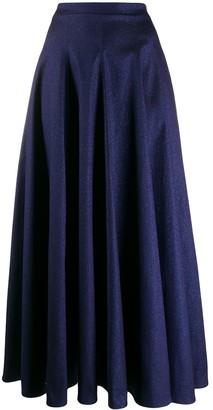 Talbot Runhof Sparkly Maxi Skirt