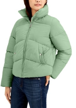 Maralyn & Me Juniors' Cropped Puffer Coat