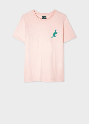 Paul Smith Womens Light Pink Dino Print Organic Cotton T-Shirt