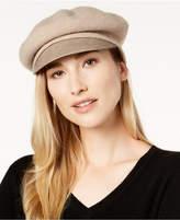 Nine West Wool & Faux-Leather Newsboy Hat