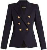 Balmain Double-breasted peak-lapel virgin-wool blazer