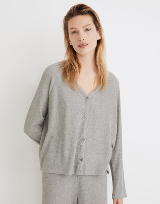 Madewell Waffle Knit Button-Front Pajama Top