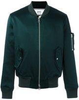 Ami Alexandre Mattiussi zipped bomber jacket - men - Cotton/Acetate/Viscose - S