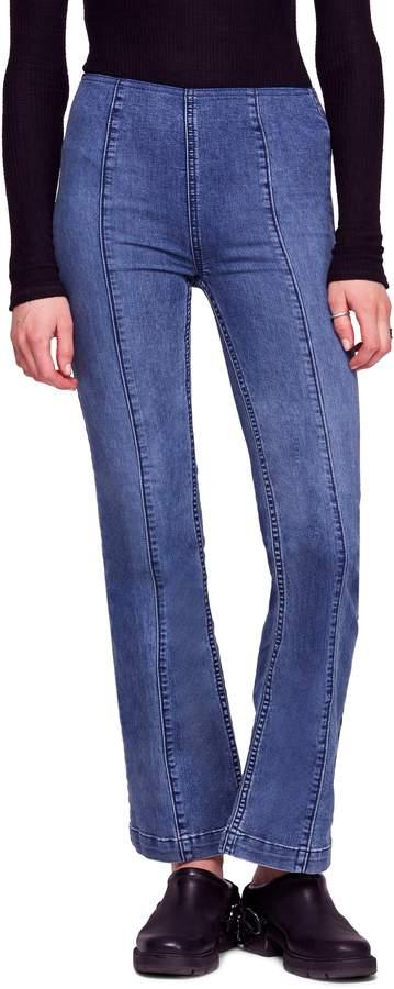 Free People Slim Pull-On Flare Jeans